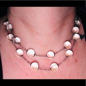 Vintage Sterling Silver Pools Of Light Necklace